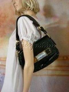 17500 New Marc Jacobs Collection Authentic Crocodile Black Logo Bag