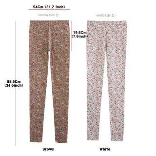 Womens leggings tights pants pantyhose flower pattern korean style