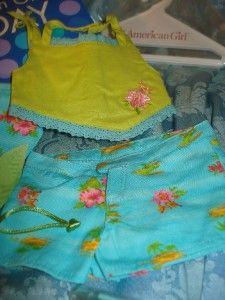 Set American Girl Doll AGOT Retired Tropical Breezes Outfit Complete