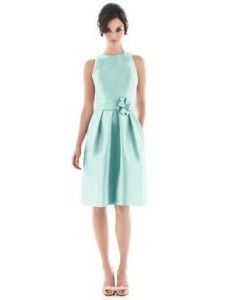 Alfred Sung 476.Bridesmaid / Cocktail Dress.Seaside.10
