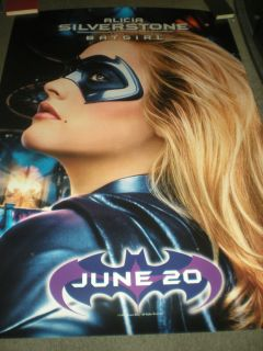 Alicia Silverstone Batgirl Original Double Sided Bus Shelter Poster