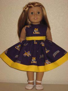 Louisiana State University Dress 4 American Girl Doll