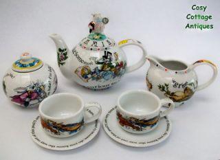New boxed Paul Cardew Alice in Wonderland miniature teapot teacup tea
