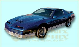 1987 1988 1989 1990 Pontiac Firebird Trans Am Decal & Stripe Kit