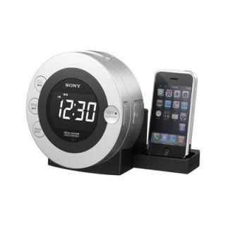 Sony Am FM CD Clock Radio iPod iPhone Dock NEWinBOX Slv
