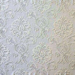 Formal Damask Look Heavy Textured Paintable Wallpaper
