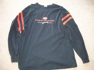 Harley Davidson Mens Long Sleeve Embroidered Shirt Size 2XL