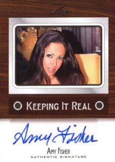 AMY FISHER 2012 LEAF KEEPING IT REAL #KF AF1 AUTOGRAPH AUTO N1632