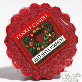 Yankee Candle Scented Wax Tart Red Apple Wreath Festive Christmas Xmas