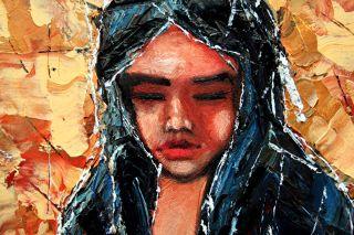 Godiva Palette Knife Original Art 24 Oil Painting Andre Dluhos