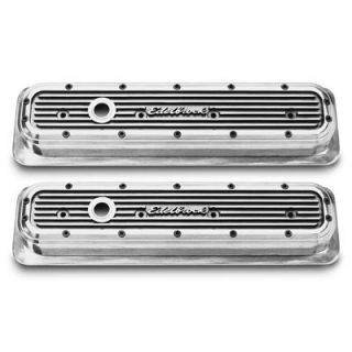 Edelbrock Elite Series Aluminum Valve Covers 4246 Chevy SBC 283 305