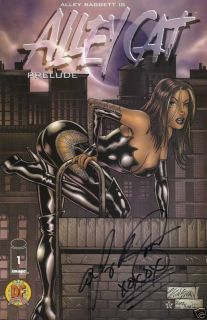 Alley Baggett Signed Alley Cat Comic Book 1 DF Prelude