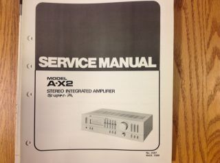 Service Manual for JVC Stereo Integrated Amplifier A X2