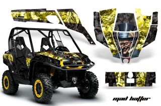 AMR Graphic Kit Can Am Commander Decal 800 1000 XT Mad