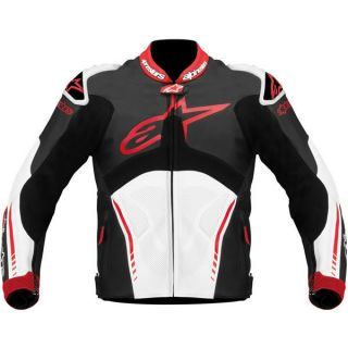 alpinestars atem leather jacket black white red 1 3 mm high grade