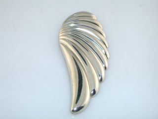 BEAUTIFUL MARKED KABANA STERLING SILVER PIN OF AN ANGEL WING.