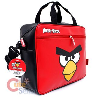 Rovio Angry Birds Fuax Leather Messenger Bag / Briefcase  Big Face