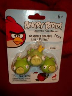 Angry Birds Collectable Puzzle Erasers with King Pig