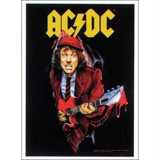 AC DC Angus Fabric Tapestry Wall Hanging