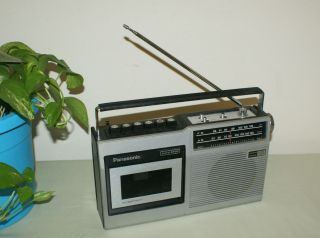 1972 73 Panasonic Am FM Cassette Portable Radio RQ 432s
