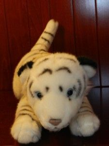 animal alley white tiger plush stuffed animal 13 toy black stripe toys