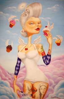 Cupcake Angel by Gabi Spree Tattooed Woman Canvas Art Giclee Print