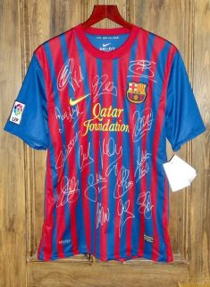 Genuine Hand Signed Barcelona Shirt Jersey Original Authentic