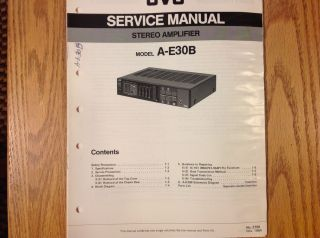 Service Manual for JVC Stereo Integrated Amplifier A E30B