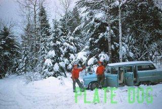 Original Slide Vintage 1950s Winter Snow Scene Hunters Men Chevy Bel