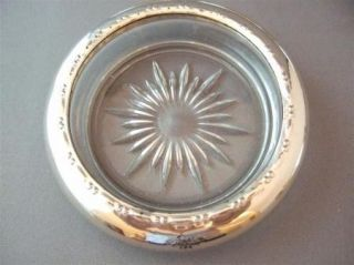 AMSTON STERLING SILVER COASTERS #144 SET of 5