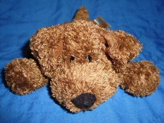 Animal Alley Collectibles Plush Beanbag Brown Dog 3X6
