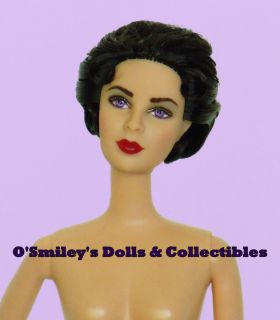 Enchanting ELIZABETH TAYLOR Black Hair/Violet Eyes Barbie Doll NUDE 4