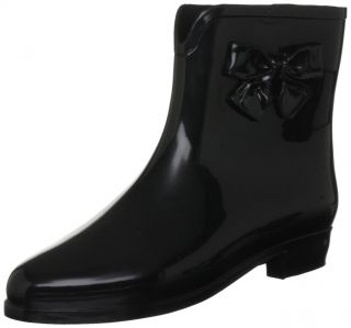 Mel by Melissa Black Black Womens Ankle Boots Wellies Shoes