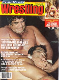 Wrestling magazine 12 81 Vintage WOMEN GIRLS GALS ANDRE THE GIANT