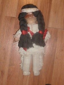 Reliable Canada 15 American Indian Composition Doll Vintage Ethnic