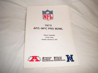 Vintage NFL Football Media Press Guide AFC NFC Pro Bowl 1973 Texas