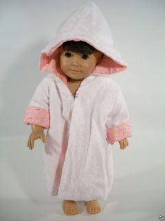 Gotz Doll White Terry Cloth Reversible Housecoat Fits American Girl
