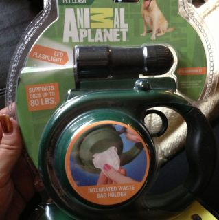 Animal Planet 16 Foot Dog Leash With Flashlight And Bag Holder