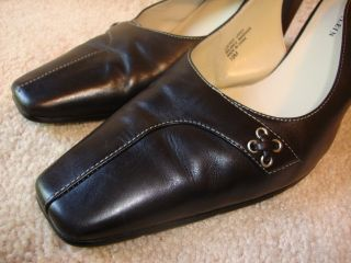 Anne Klein Womens Pump Heels Size 10 M Black Leather NICE SHOES