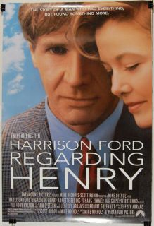 regarding henry 1991 harrison ford annette benning condition near mint