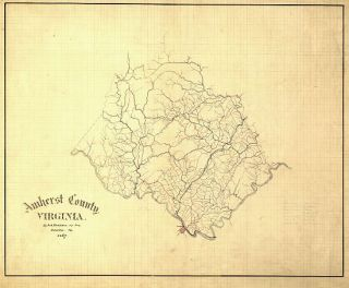 civil war amherst county virginia map amherst county virginia by jed