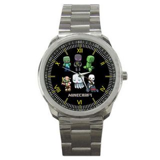 NEW MINECRAFT MONSTERS CHARACTER TOP GAMES SPORT METAL WATCH CUSTOM