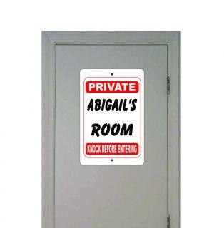 ABIGAILs ROOM PRIVATE KNOCK BEFORE ENTERING room door name Aluminum