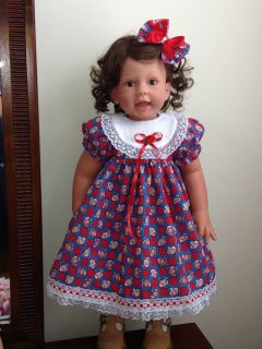 Raggedy Ann Dress for Lee Middleton 27 LilInnocence Doll Outfit Only