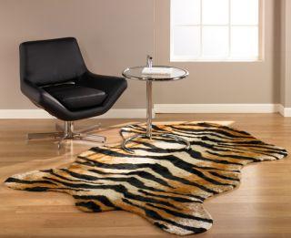 Tiger Rug Faux Fur Animal Skin Pelt Hide 3x5 New