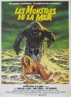 HUMANOIDS FROM THE DEEP 1980 Doug McClure VERY GREAT ARTWORK 15x20