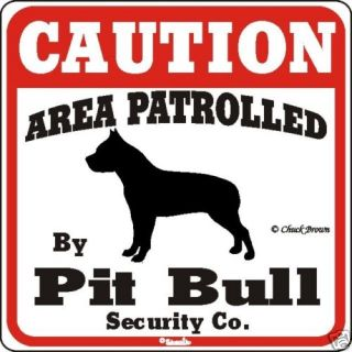 pit bull caution dog sign many pet breeds available time