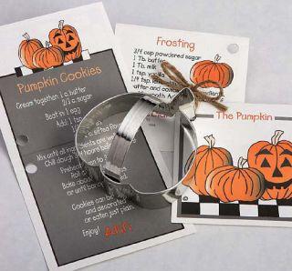 New Ann Clark Tin Pumpkin Cookie Cutter w Recipe Card Attatched Made