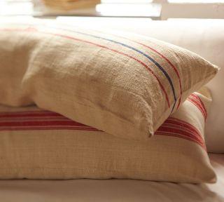 Pottery Barn Vintage Grain Sack Pillow or Table Runner