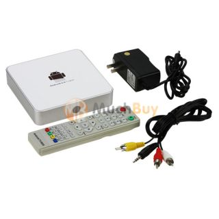 A6 Android 4 0 TV Box Media Player HD 1080p with HDMI CVBS LAN White